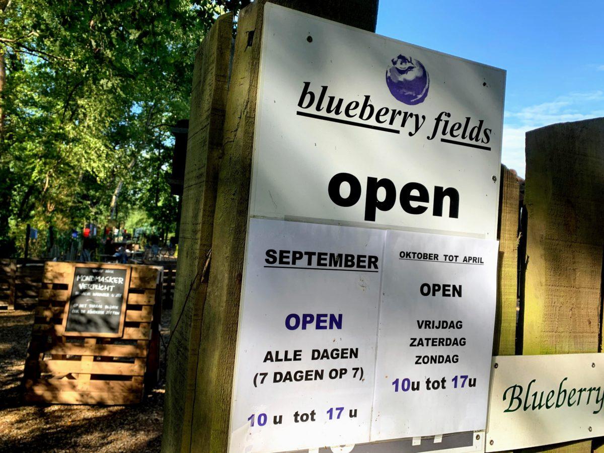 Blueberry Fields Koersel openingsuren
