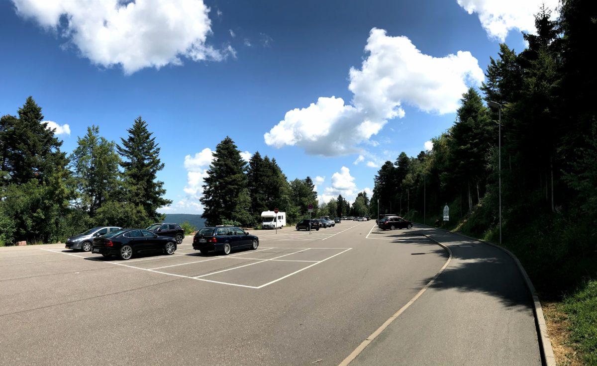 Parkplatz auf dem Sommerberg