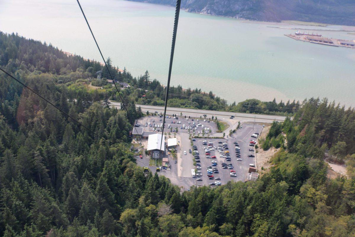 Parking Sea to Sky gondola base station
