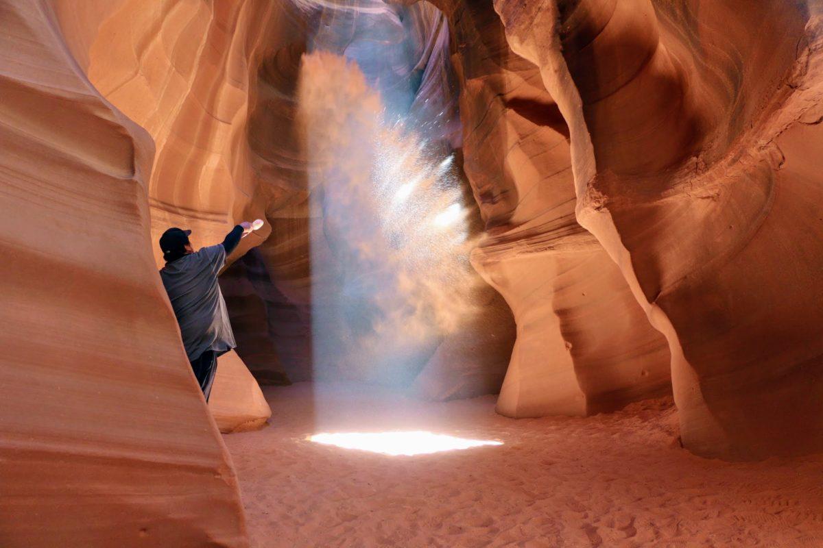 Lichtstraal Antelope Canyon