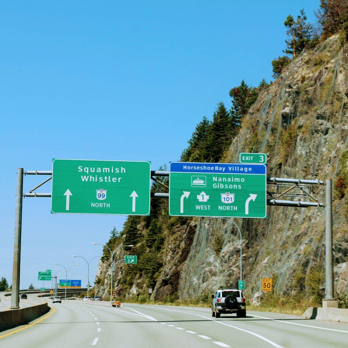 Van Vancouver naar Whistler
