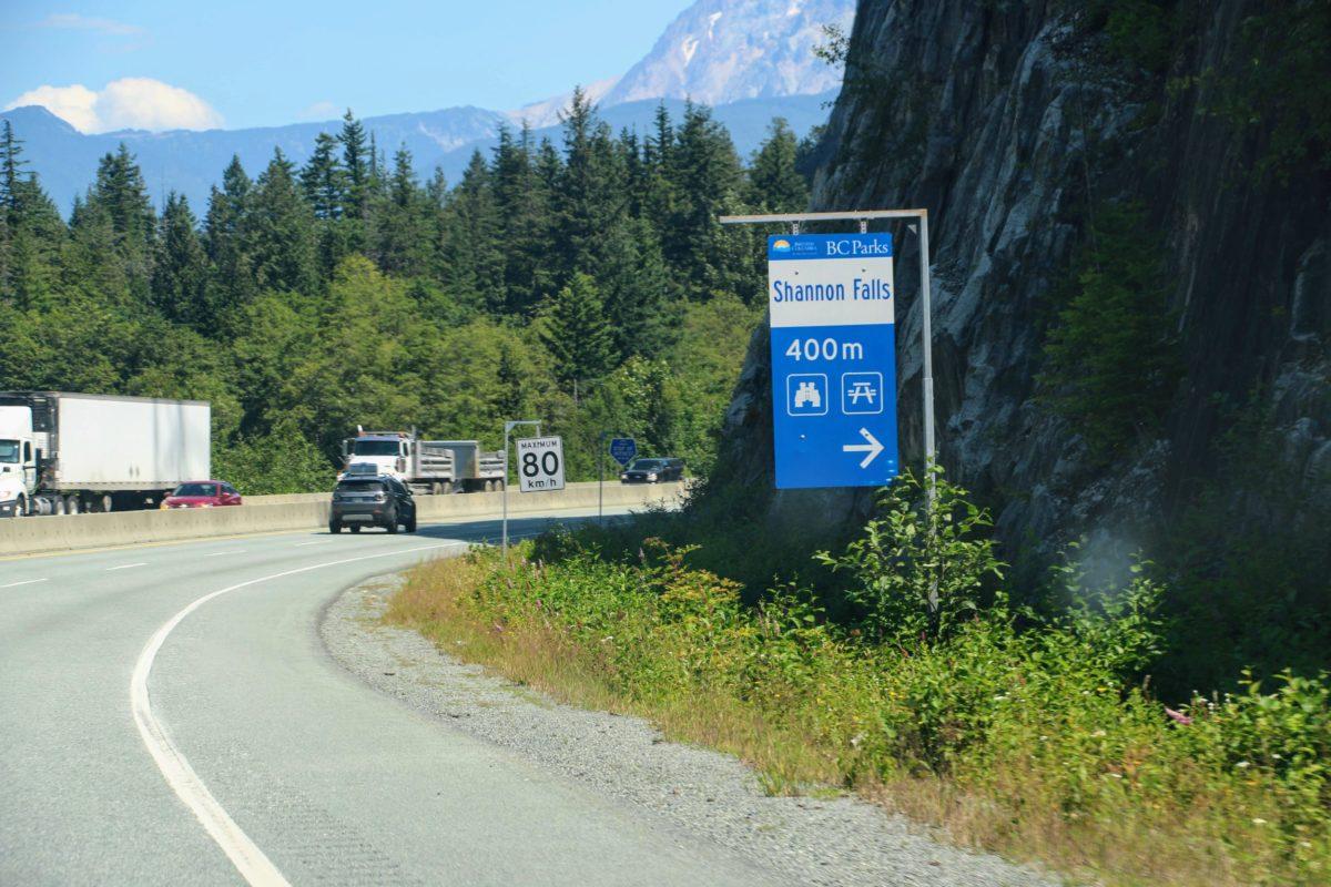 Shannon Falls - Van Vancouver naar Whistler