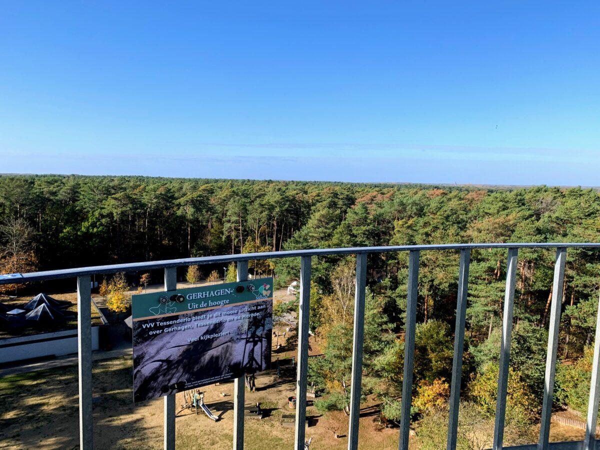 Uitzicht vanaf VVV toren in Gerhagen
