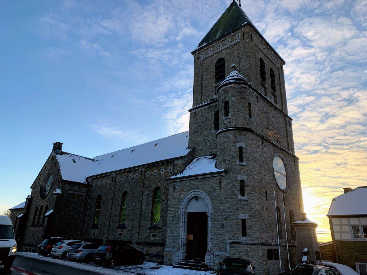 De kerk van Stoumont
