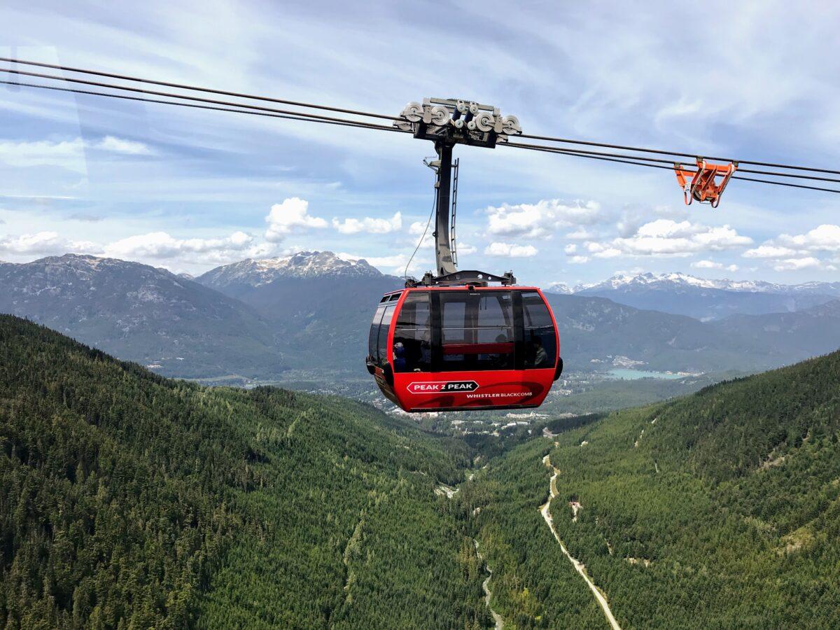Peak 2 Peak in Whistler Blackcomb - Canada