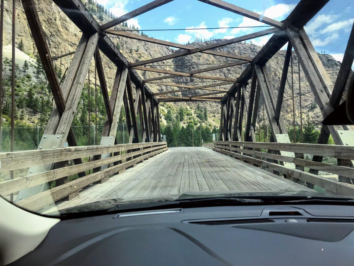 Houten brug in Canada