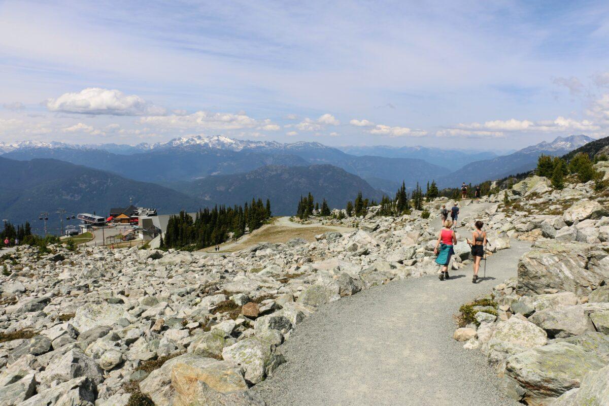 Alpine hiking trails Whistler