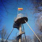 Een uitkijktoren op de Borreberg in Bilzen
