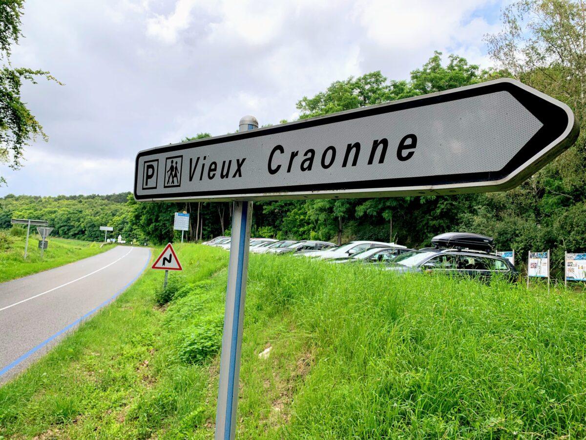 Parkeerplaats bij uitkijktoren Chemin des dames (Craonne)